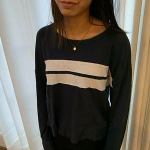Abercrombie & Fitch Long Sleeve Blue Tee